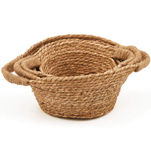 Handwoven Seagrass Straw Rustic Baskets