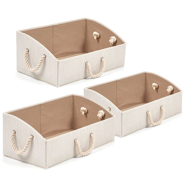 Foldable Bamboo Fabric Trapezoid Bins