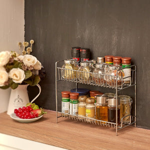 2-Tier Kitchen Countertop Organizer Holder Rack