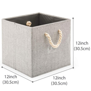 Foldable Bamboo Fabric Storage Bins