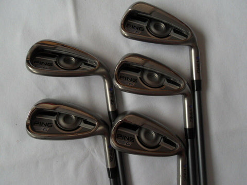 PING G SERIES IRONS 7-PW+UW  PURPLE DOT REGULAR GRAPHITE GOLF CLUBS IRON SET - Golfdealers.co.uk