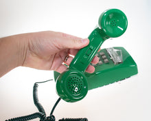 Load image into Gallery viewer, Vintage Green Phone (Compact) Mount on Wall with Push Buttons Tone Mode USA Made