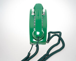 Vintage Green Phone (Compact) Mount on Wall with Push Buttons Tone Mode USA Made