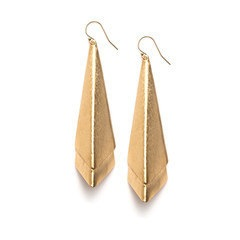 Layered Drop Pierced Earrings