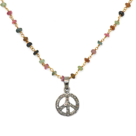 Tourmaline Stone Necklace