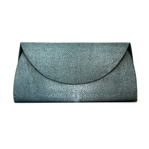 Green Stingray Half Moon Clutch