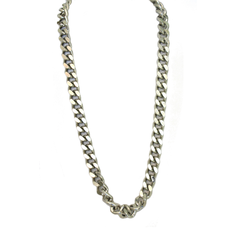 Rhodium Long Chain Necklace