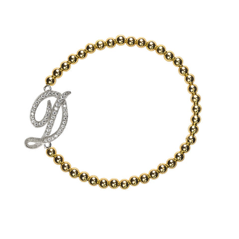 """D"" Personalized Stretch Bracelet"
