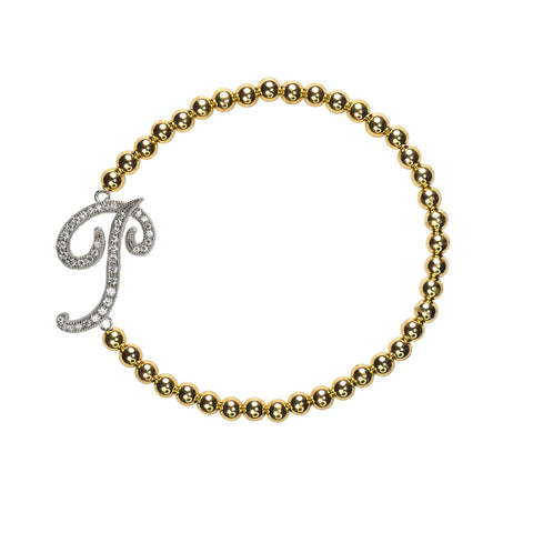 """P"" Personalized Stretch Bracelet"
