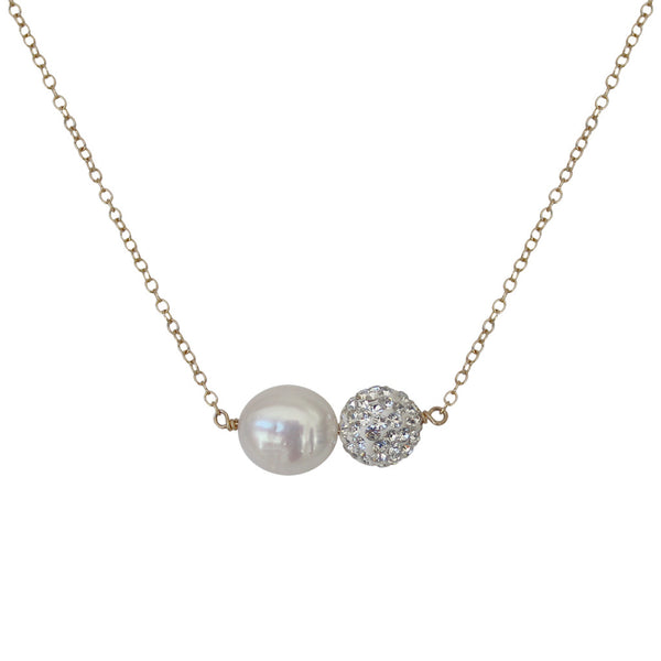 Mother of Pearl and Ball Necklace