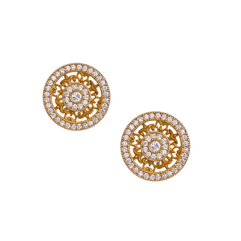 Wheel Studded Earrings