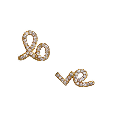 "Small ""love"" Stud Earrings"