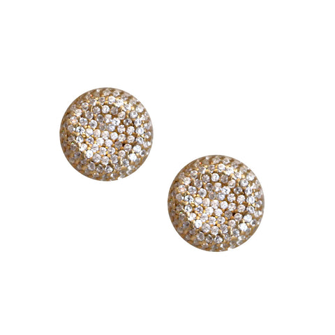 Small Puff Disc Earrings