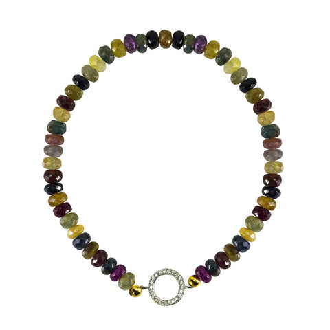 Tourmaline Open Disc Bracelet