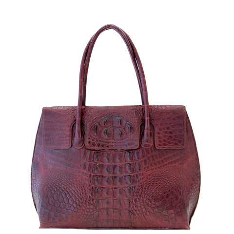 Burgandy Envelope Crocodile Hangbag