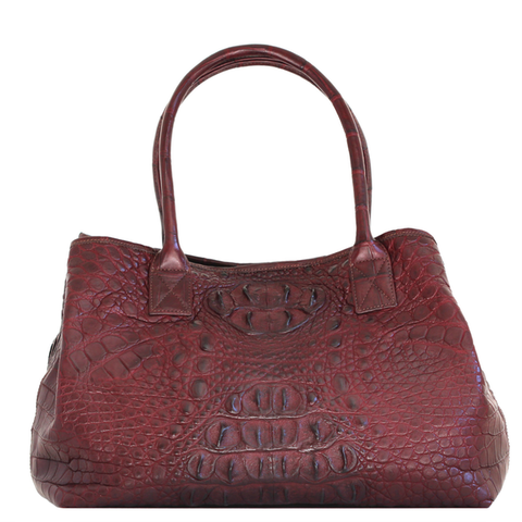 Burgandy Crocodile Handbag