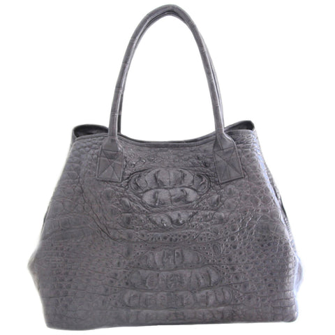 Grey Crocodile Handbag