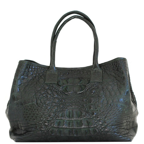 Dark Green Crocodile Handbag