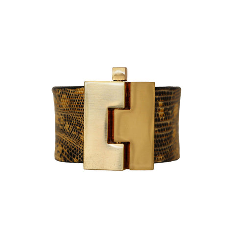 Brown Lizard Cuff