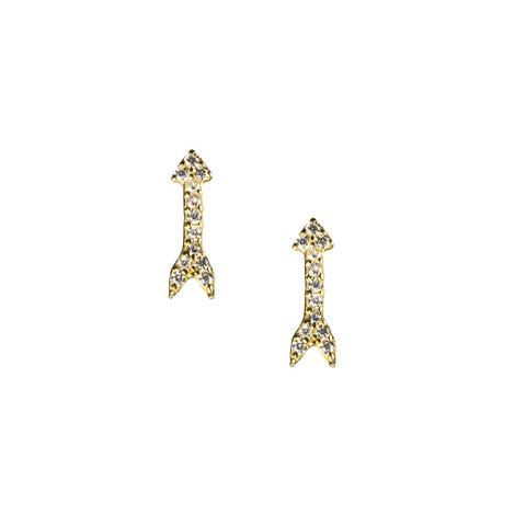 Mini Arrow Stud Earrings