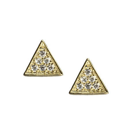 Mini Pave Stud Earrings