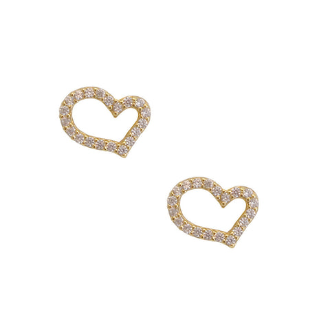 Shapely Heart Diamond Studded Earrings
