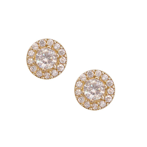 Small Halo Stud Earrings