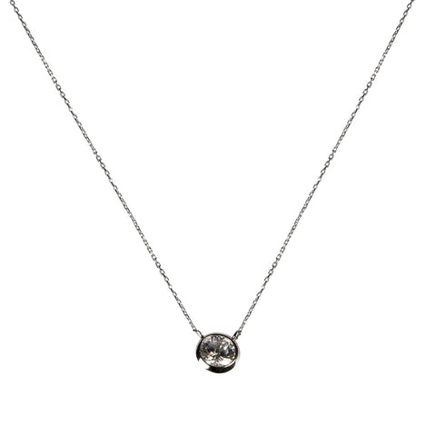 Delicate Solitaire Necklace