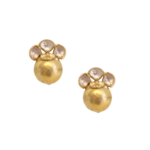 Gold Plated Ball Earrings