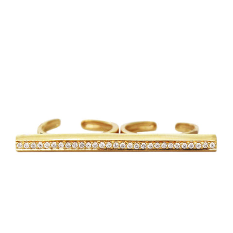 Double Finger Bar Ring