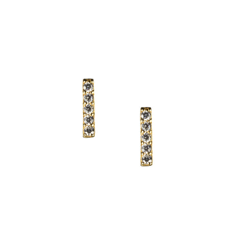 Mini Bar Stud Earrings