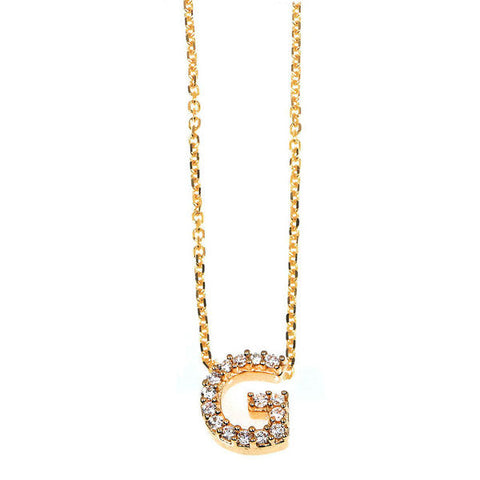 """G"" Initial Necklace"