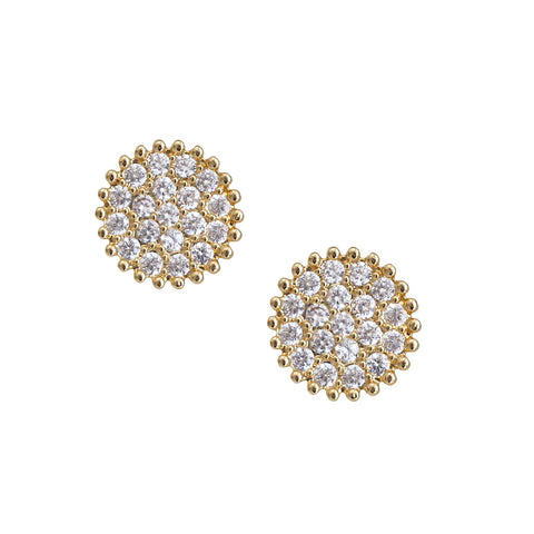 Stud Disc Earrings
