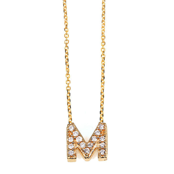 """M"" Initial Necklace"