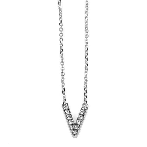 """V"" Initial Necklace"