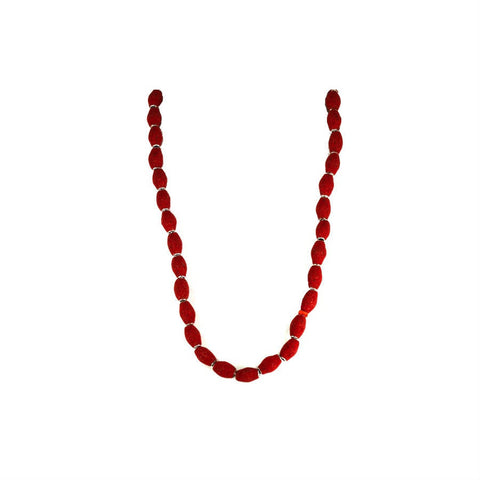 Long Red Kashmiri Necklace