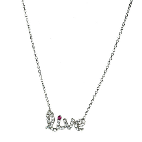 "Swarovski ""Live"" Necklace"