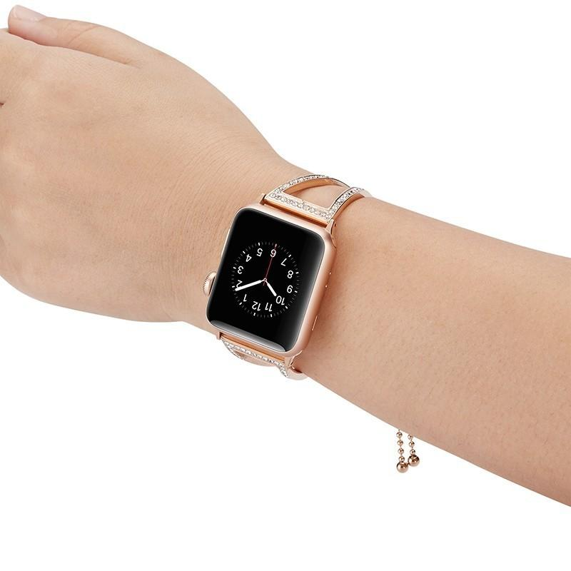Adjustable Fashion Bracelet Stainless Steel Strap for Apple Watch