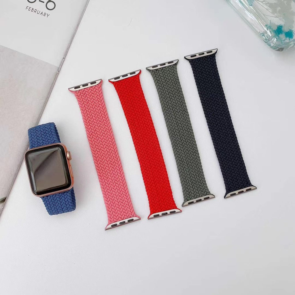 Fully Braided Elastic Strap for Apple Watch
