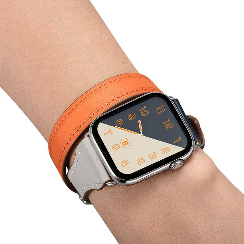 Genuine Leather Double Tour Loop for Apple Watch