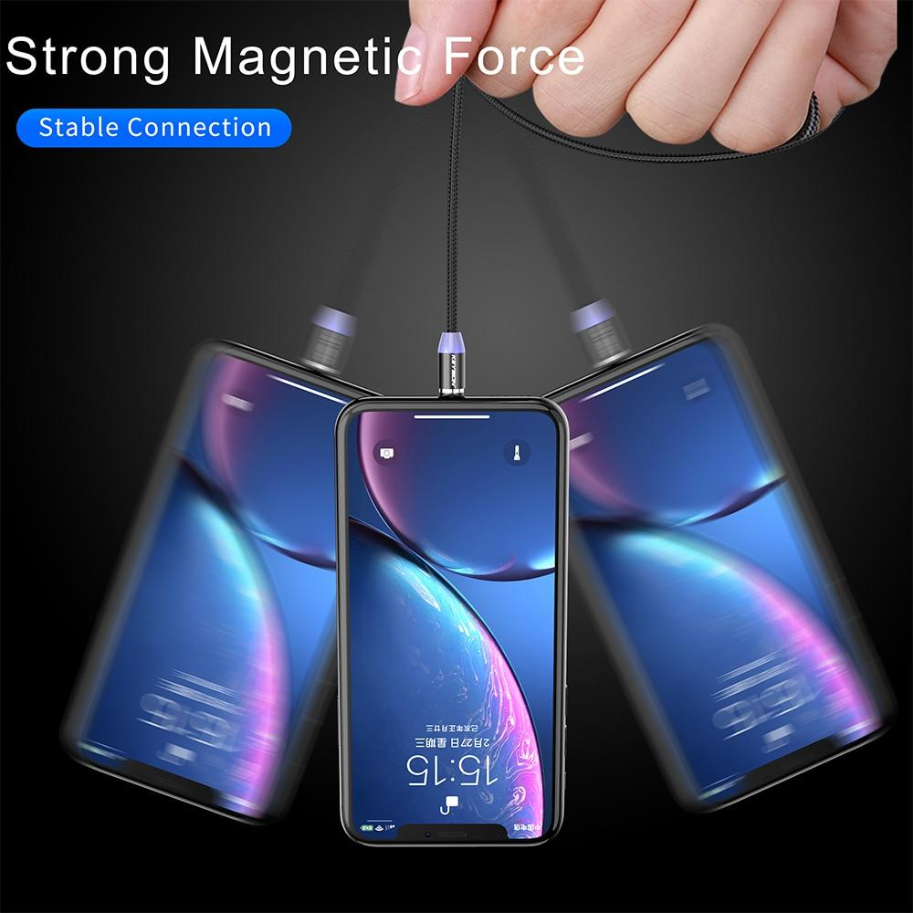 LED Magnetic Fast Charging USB Cable for iPhone, USB-C, Micro-USB