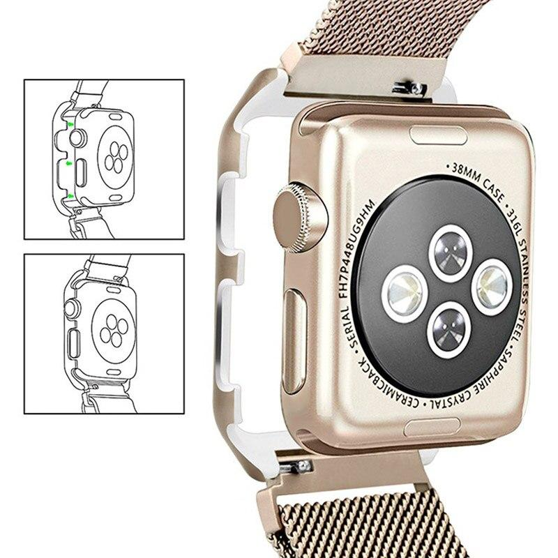 Milanese Magnetic Metal Strap w/ Case for Apple Watch