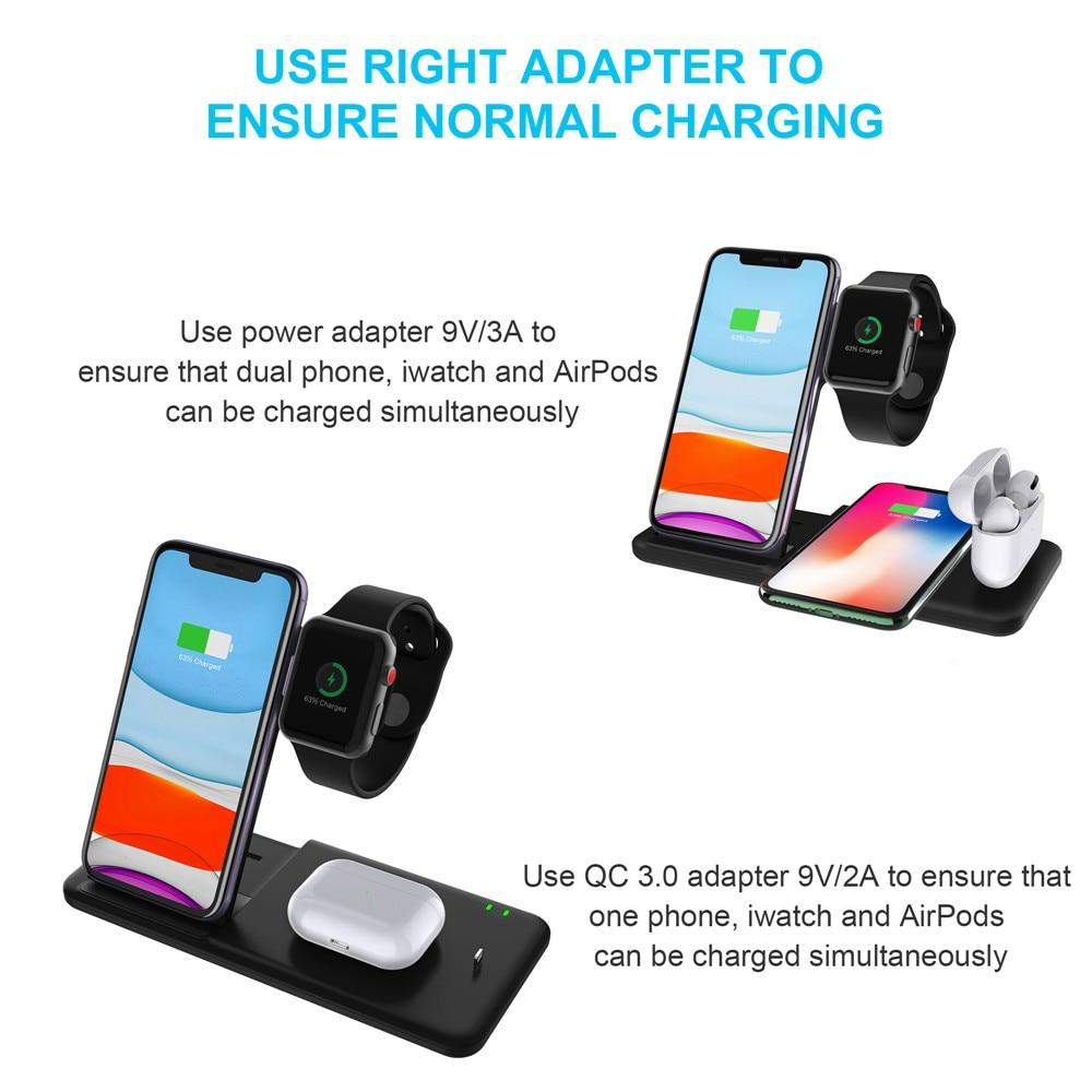 Qi Wireless 4 in 1 Portable Charging Station for iPhone / Apple Watch / AirPods 1