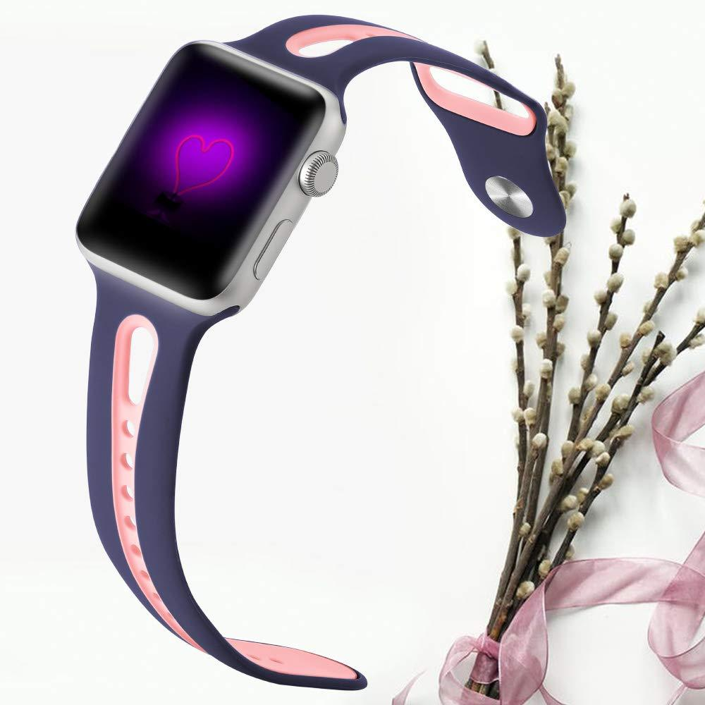 Silicone Breathable Anti-Sweat Sport Band for Apple Watch