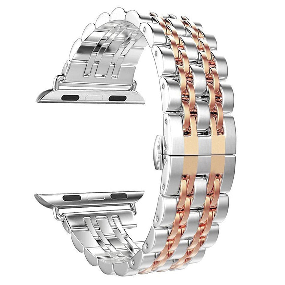 Stainless Steel 7 Beads Replacement Band for Apple Watch