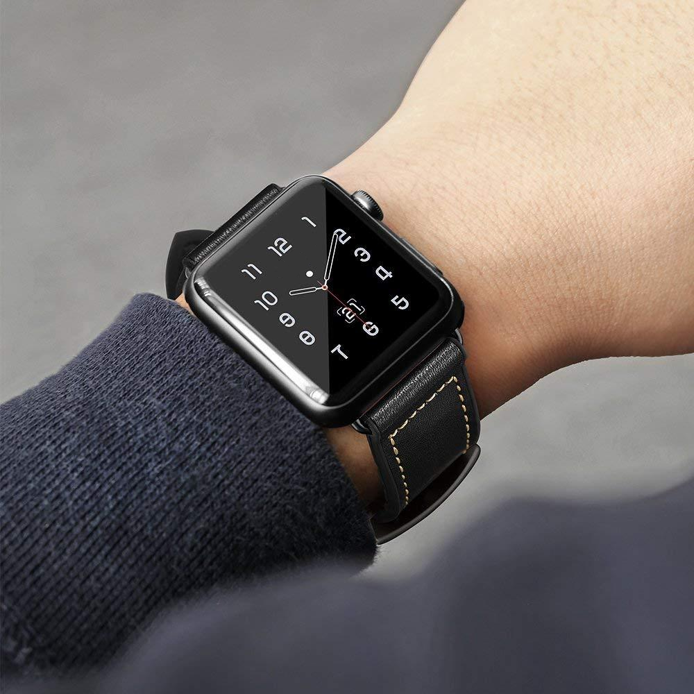 Vintage Leather Silicone Band for Apple Watch