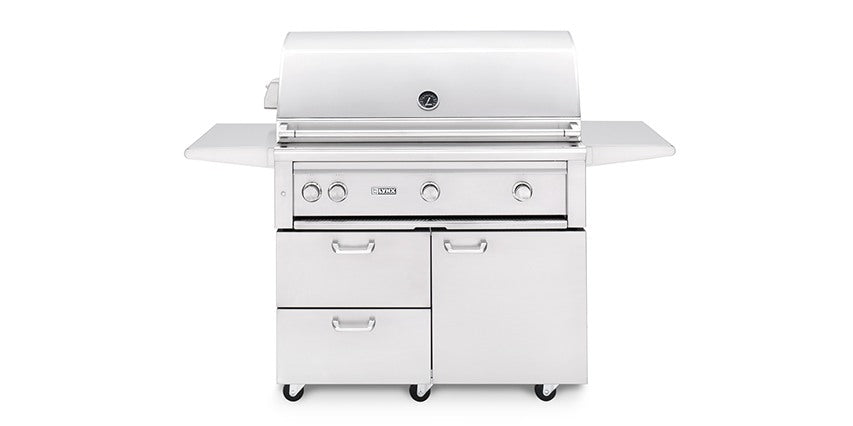 "42"" Freestanding Grill - All Trident IR Burner w/ Rotisserie - L42ATRF - The Organic Butcher of McLean"