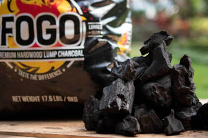 Fogo 17.6 lb. Hardwood Lump Charcoal Black Bag - The Organic Butcher of McLean