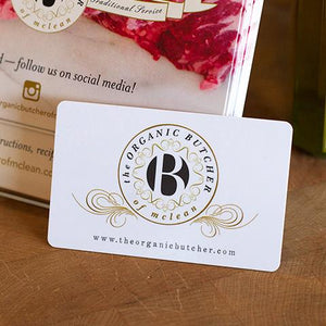 Gift Card - The Organic Butcher of McLean