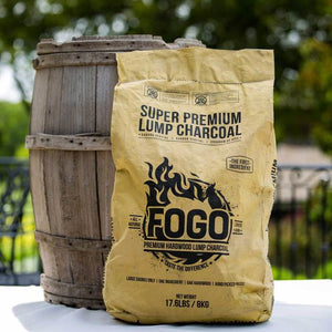 Fogo 17.6 lb. Super Lump Premium Hardwood Charcoal Bag - The Organic Butcher of McLean